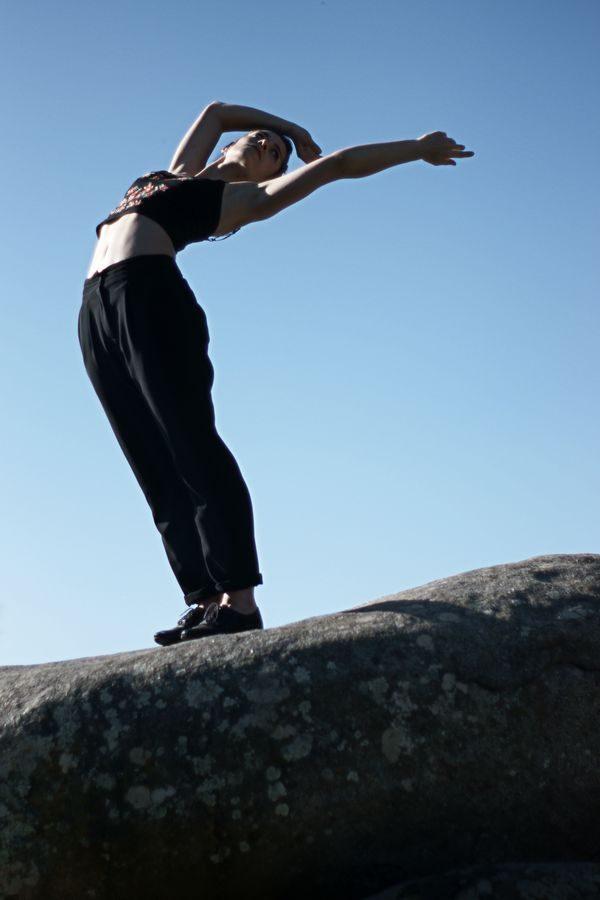 Dancer on the rock