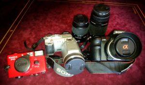 Mon matériel de photographe, mes appareils photo : Konica Pop, Sony Cyber-shot et Sony Alpha700